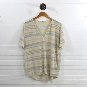 L'AGENCE STRIPED TOP #131-224